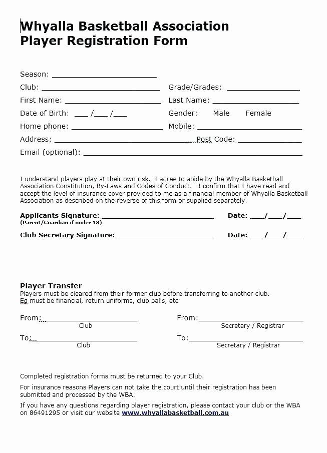 5k Registration form Template Inspirational Free event Registration form Template Word for Download
