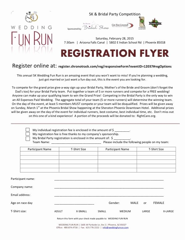 5k Registration form Template Unique Registration form