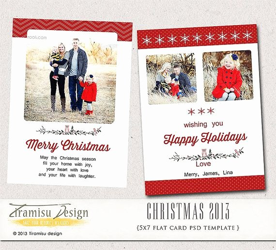 5x7 Postcard Template Photoshop Awesome 5x7 Christmas Card Shop Template Instant by