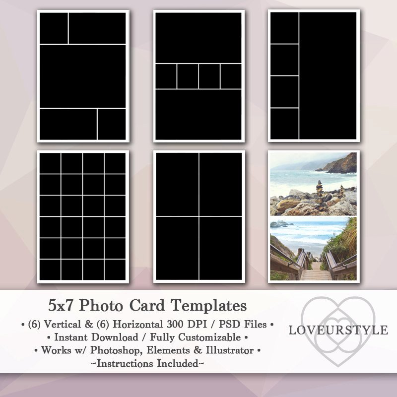 5x7 Postcard Template Photoshop Awesome 5x7 Template Pack 12 Templates Collage
