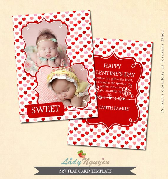 5x7 Postcard Template Photoshop Awesome Instant Download 5x7 Valentine S Card Shop Template