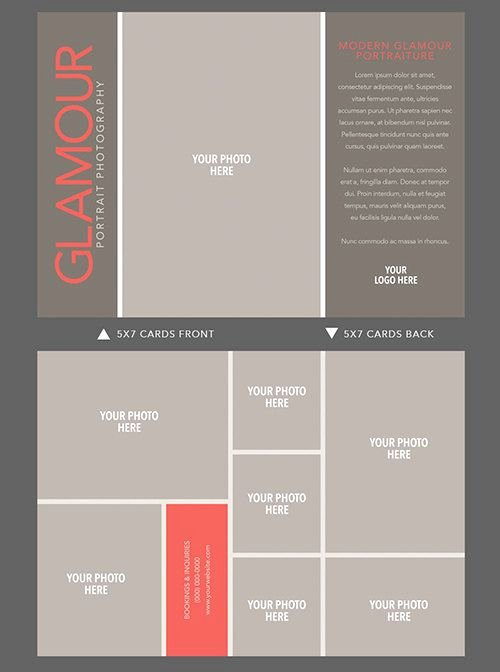 5x7 Postcard Template Photoshop Beautiful 5x7 Doublesided Glamour Card Template for by