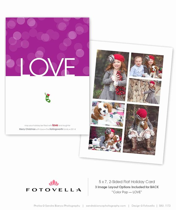 5x7 Postcard Template Photoshop Beautiful Holiday Card Template 5x7 Flat Card Shop by Fotovella