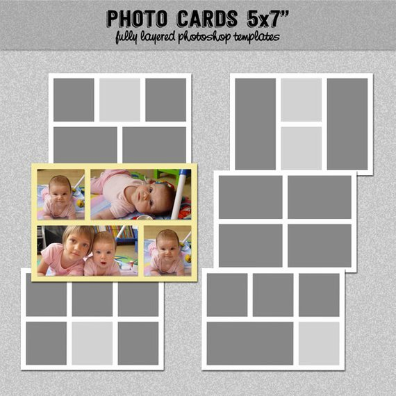 5x7 Postcard Template Photoshop Best Of 6 Card Templates 5x7 Set 2 Instagram Collage