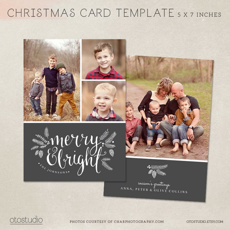 5x7 Postcard Template Photoshop Best Of Christmas Card Template Shop Template 5x7 Flat Card
