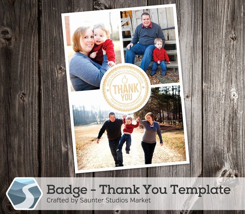 5x7 Postcard Template Photoshop Best Of Thank You Card Template Badge 5x7 and 4x6 Shop