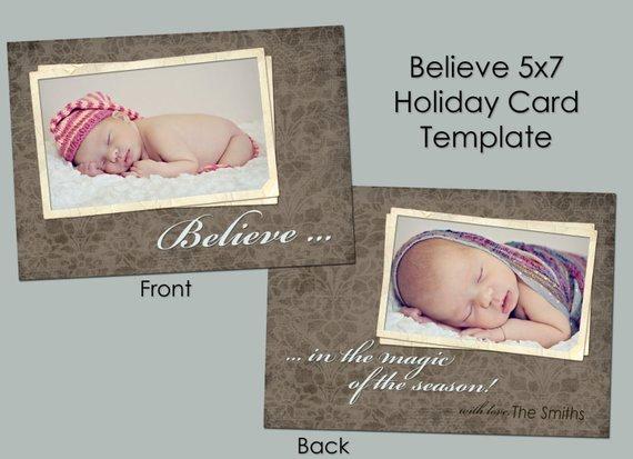 5x7 Postcard Template Photoshop Elegant Believe 5x7 Christmas Card Template Shop Templates