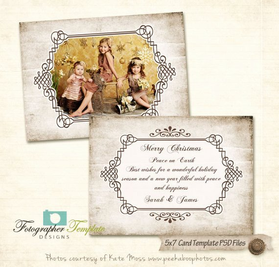 5x7 Postcard Template Photoshop Elegant Christmas 5x7 Card Templates for Graphers Psd