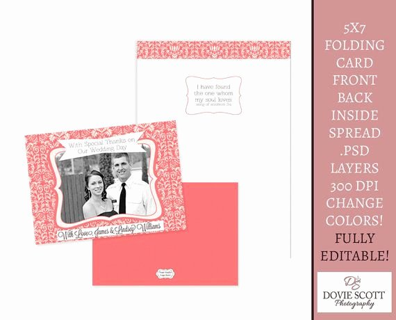 5x7 Postcard Template Photoshop Fresh 1000 Images About Wedding Thank You Templates On