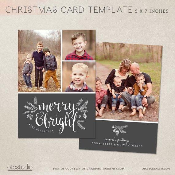 5x7 Postcard Template Photoshop Fresh Christmas Card Template Shop Template 5x7 Flat Card