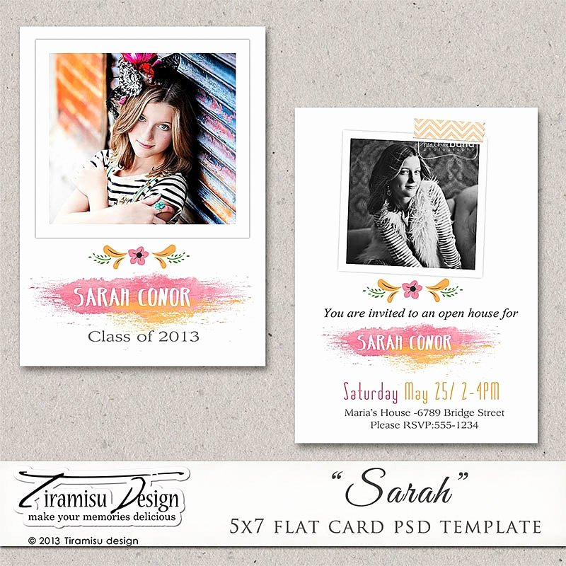 5x7 Postcard Template Photoshop Inspirational 5x7 Senior Graduation Announcement Card Shop Template