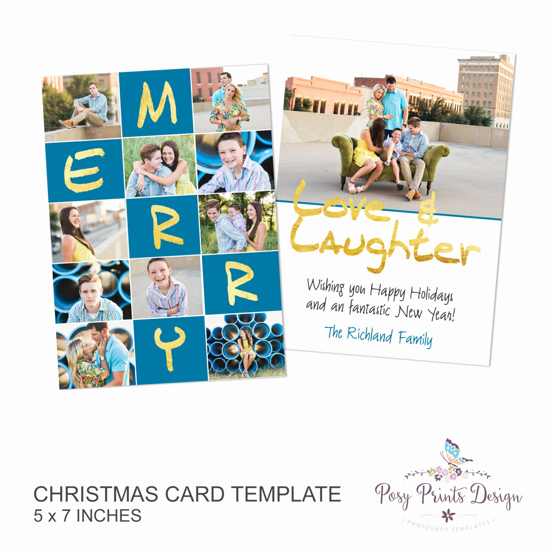 5x7 Postcard Template Photoshop Lovely Christmas Card Shop Template Cc27