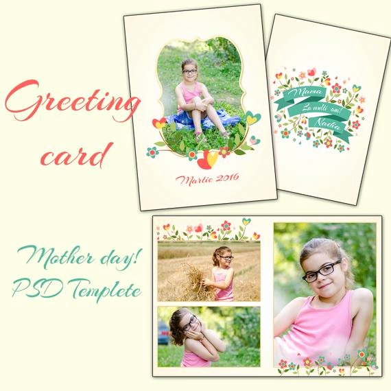 5x7 Postcard Template Photoshop Lovely Items Similar to 5x7 In Mother S Day Card Shop