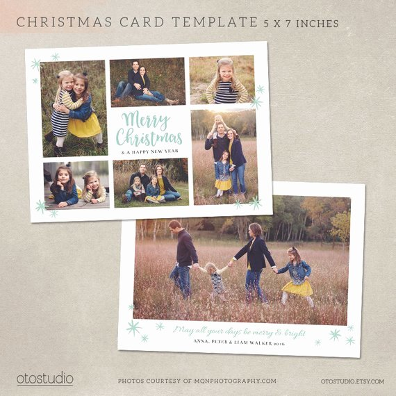 5x7 Postcard Template Photoshop Lovely Items Similar to Christmas Card Template Shop