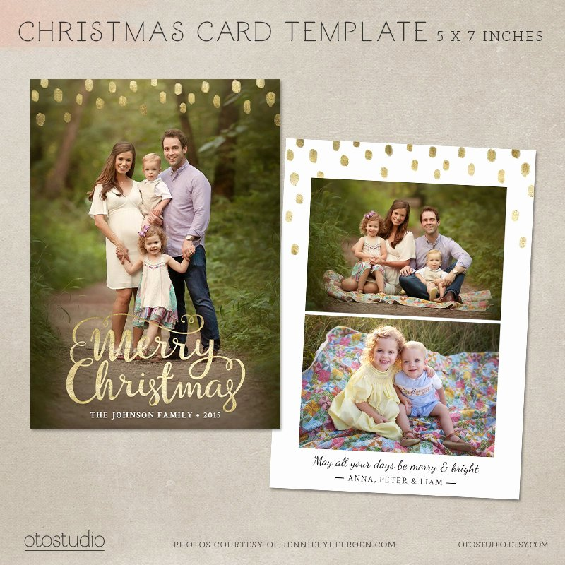 5x7 Postcard Template Photoshop Luxury Christmas Card Template Shop Template 5x7 Flat Card