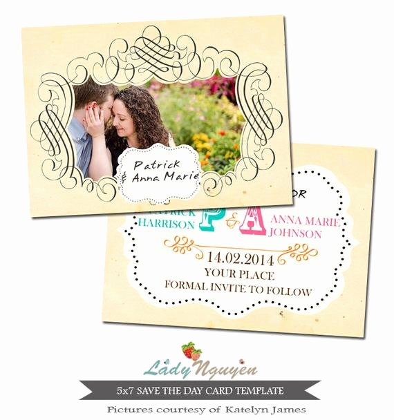 5x7 Postcard Template Photoshop Luxury Instant Download 5x7 Save the Day Card Shop Template