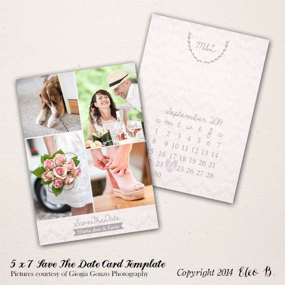 5x7 Postcard Template Photoshop New 5x7 Save the Date Template Shop Template Std002