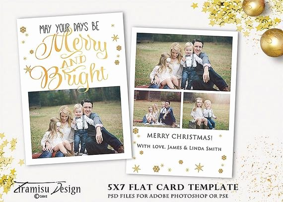 5x7 Postcard Template Photoshop New Christmas Card Template 5x7 In Holiday Card Adobe Shop