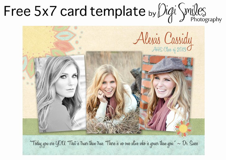 5x7 Postcard Template Photoshop New Free Card Template for Shop – Drop In Your Photos and