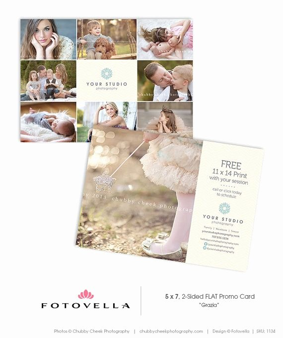 5x7 Postcard Template Photoshop New Graphy Marketing 5x7 Promo Card Post Card Template