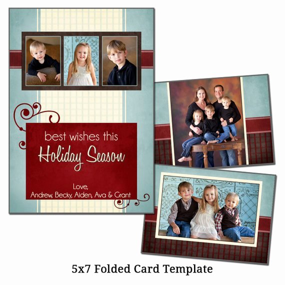 5x7 Postcard Template Photoshop Unique 5x7 Folded Christmas Card Template Holiday Card