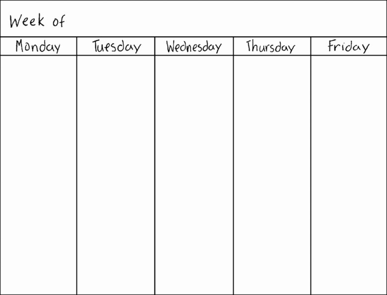 7 Day Schedule Template Beautiful Blank Seven Day Calendar Free Calendar Template