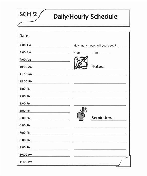 7 Day Schedule Template Lovely 7 Day Schedule Template Free Sample Example format