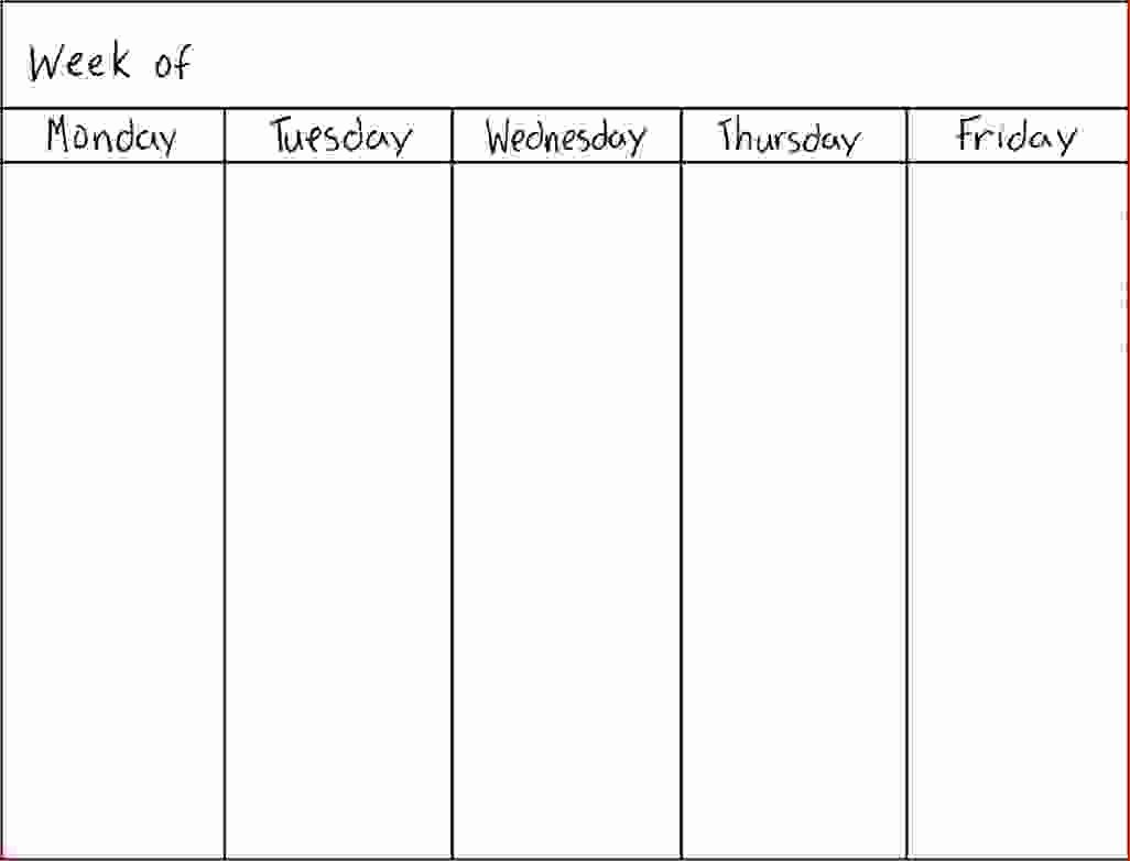 7 Day Schedule Template New 7 Day Weekly Planner Template Printable