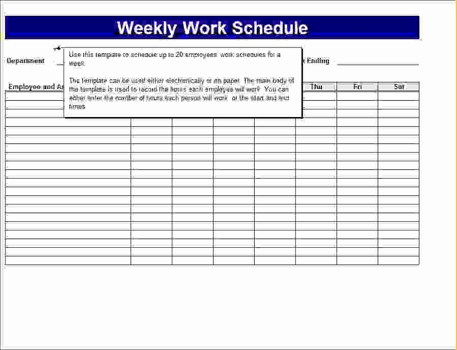 7 Day Work Schedule Template Beautiful 7 Schedule Templates
