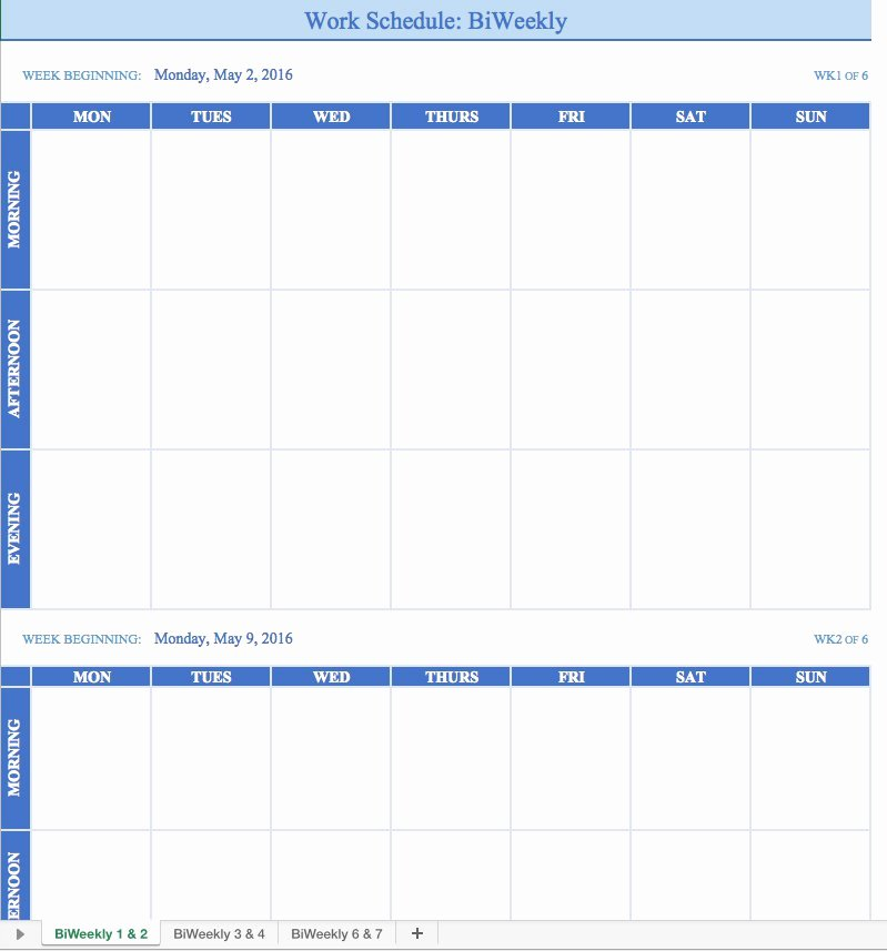 7 Day Work Schedule Template Elegant Free Work Schedule Templates for Word and Excel