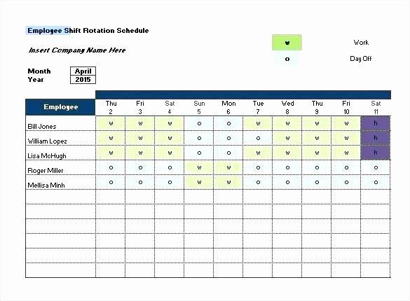 7 Day Work Schedule Template Elegant Rotating Shift Schedule Template Printable Calendar