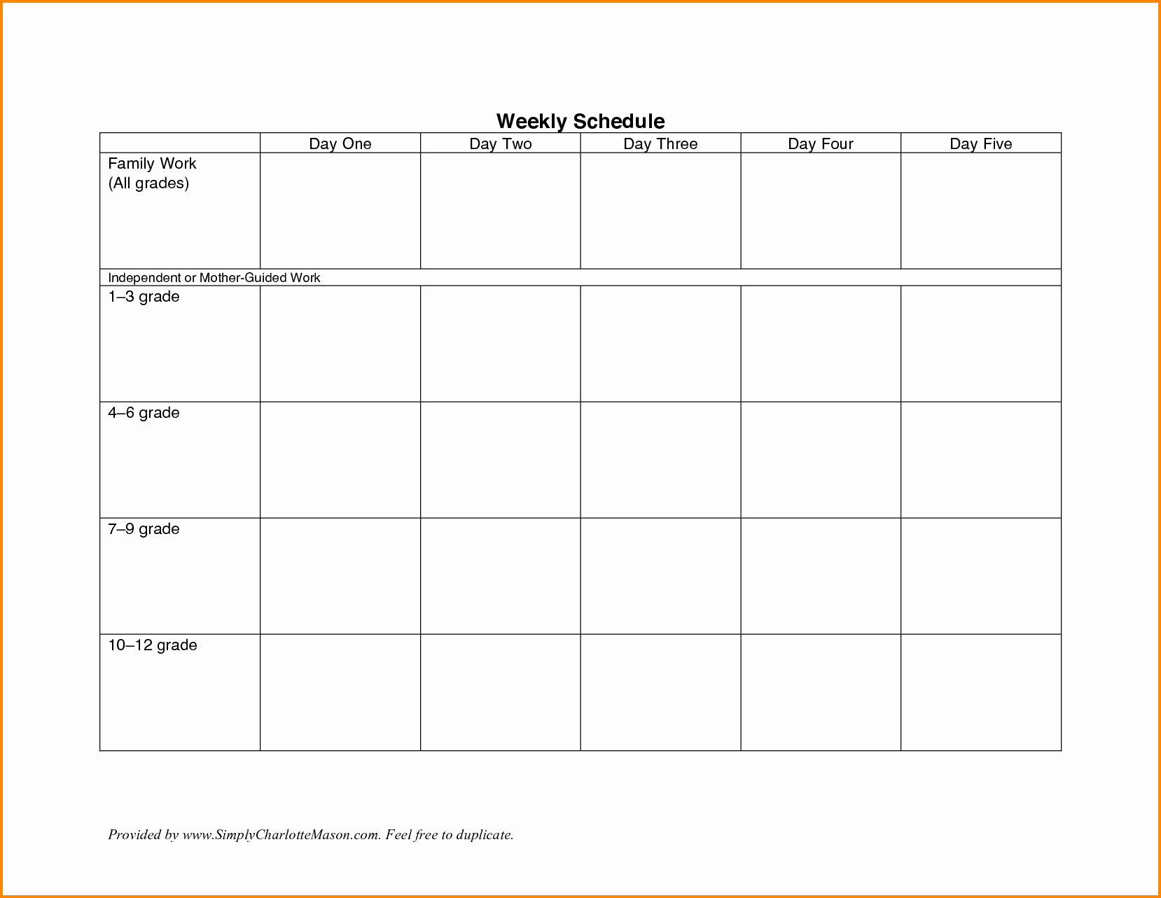 7 Day Work Schedule Template Inspirational 7 Weekly Work Schedule Template