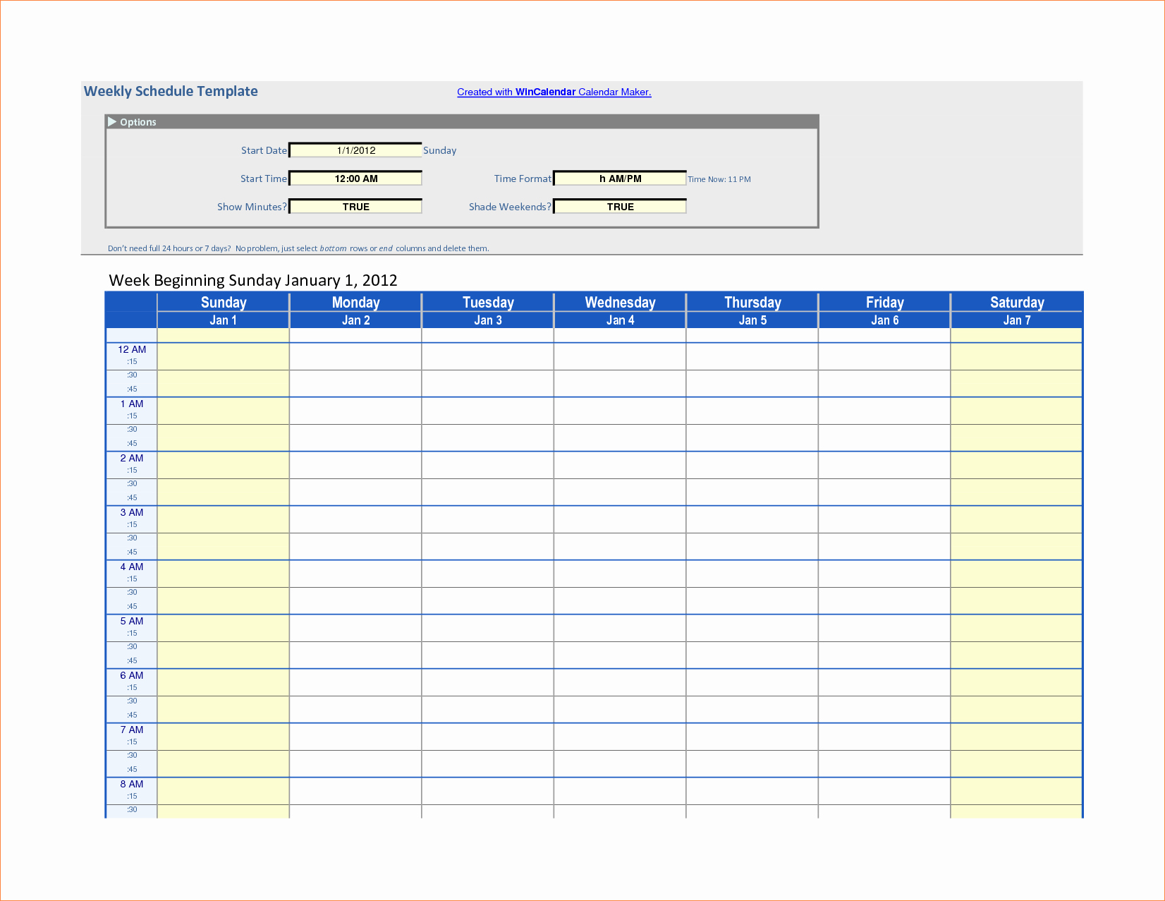 7 Day Work Schedule Template Unique 7 Work Schedule Templates