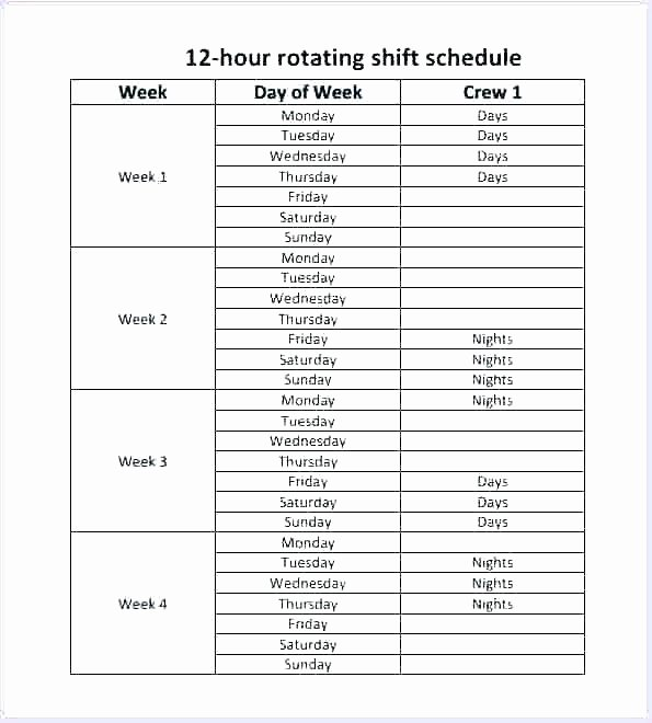 8 Hour Shift Schedule Template Elegant 24 Hour Shift Schedule Template – Psychicnights