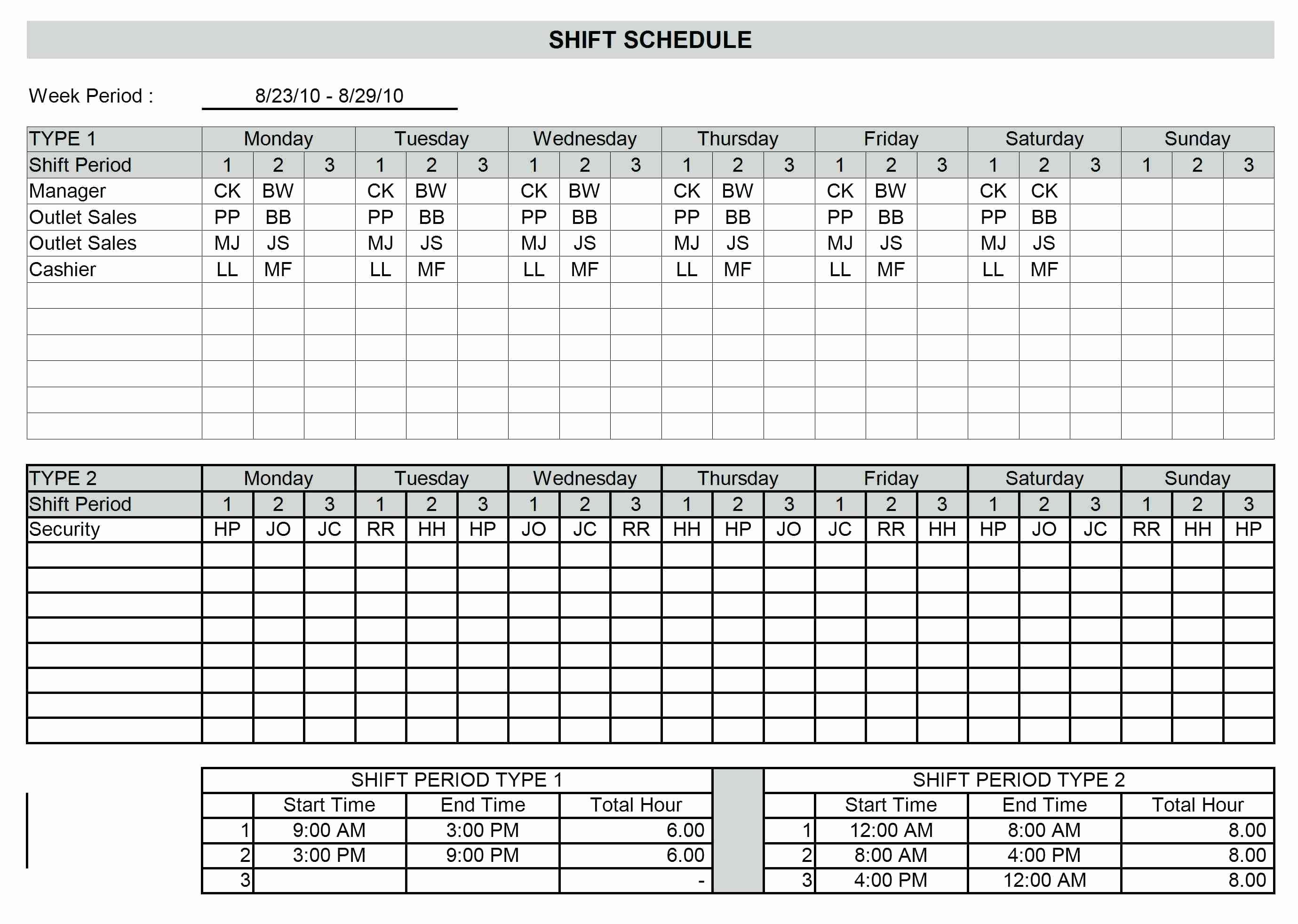 8 Hour Shift Schedule Template Inspirational Template 8 Hour Shift Schedule Template