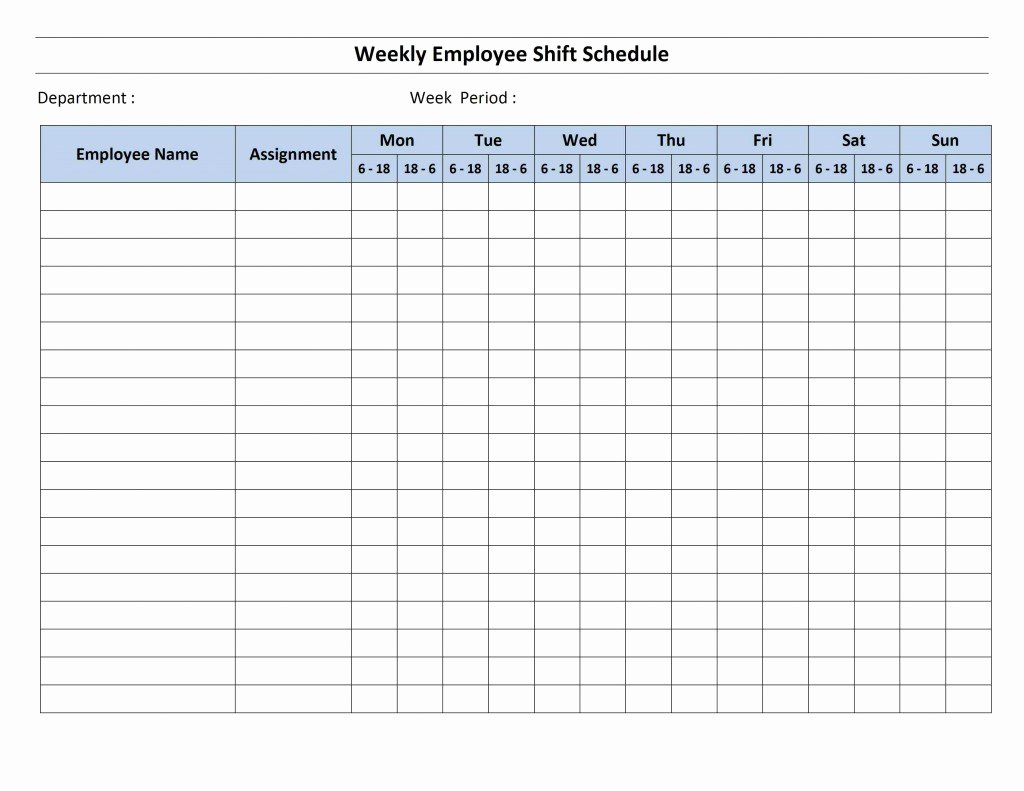 8 Hour Shift Schedule Template Lovely 12 Hour Shift Schedule Template