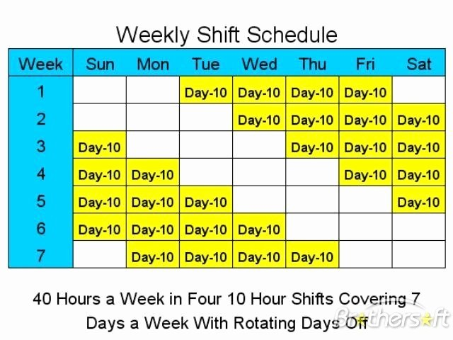 8 Hour Shift Schedule Template Luxury 12 Hour Nursing Schedule Template Templates Resume