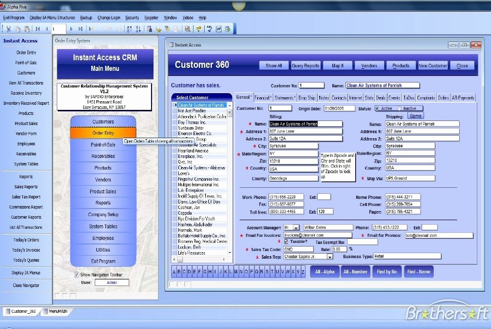 Access Customer Database Template Beautiful Download Free Instant Access Crm Instant Access Crm 1 2