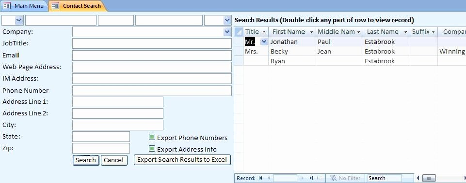 Access Customer Database Template Elegant Client Database Template Invitation Template