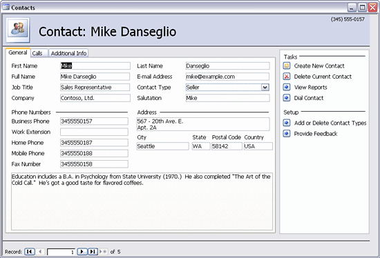 Access Customer Database Template Fresh Download Sales Contact Management Database Template for