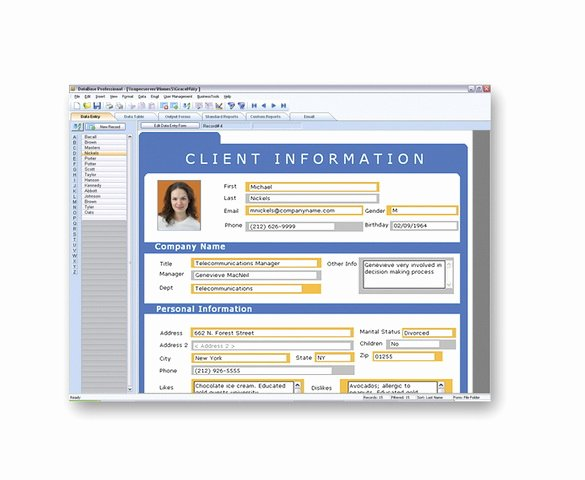 Access Customer Database Template New Mydatabase Home and Business