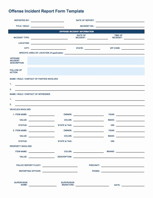 Accident Incident Reporting form Template Elegant Free Incident Report Templates Smartsheet