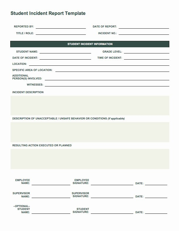 Accident Incident Reporting form Template Inspirational Free Incident Report Templates Smartsheet