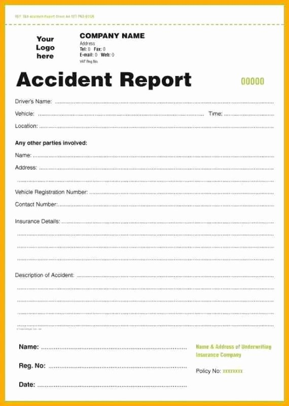 Accident Incident Reporting form Template Luxury Accident Report form