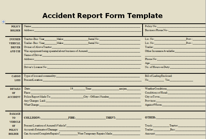 Accident Report forms Template Awesome Download Accident Report form Template Microsoft Excel