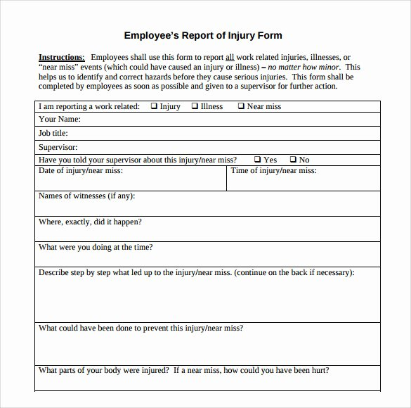 Accident Report forms Template Beautiful 12 Sample Accident Report Templates – Pdf Word Pages