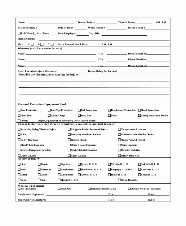 Accident Report forms Template Best Of Employee Incident Report form Doc