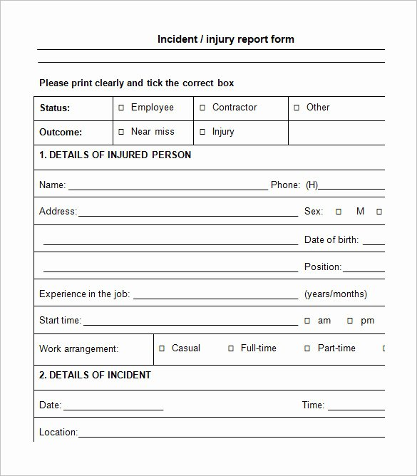 Accident Report forms Template Lovely 12 Employee Incident Report Templates Pdf Doc