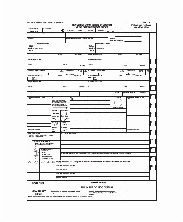 Accident Report forms Template Unique Nj Motor Vehicle Accident Report Impremedia