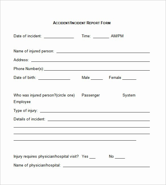 Accident Reporting form Template Beautiful 37 Incident Report Templates Pdf Doc Pages